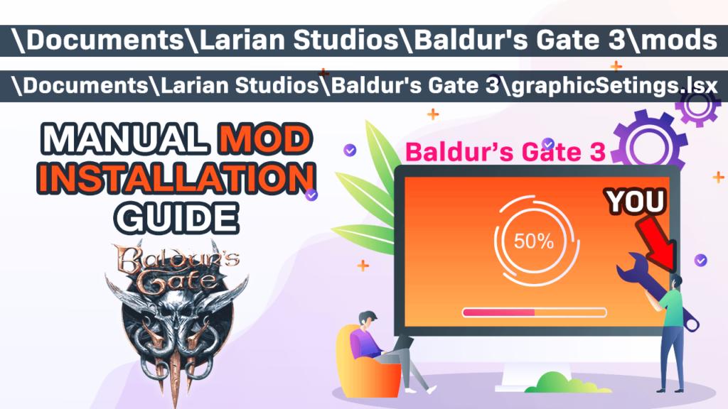 manual mod install baldur's gate 3