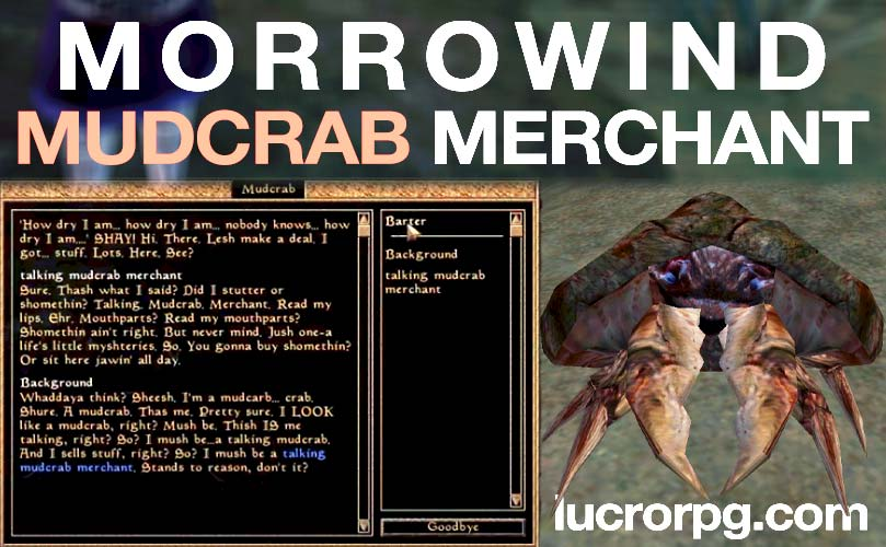 morrowind mudcrab merchant map