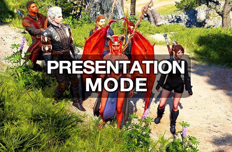 baldur's gate 3 presentation mode