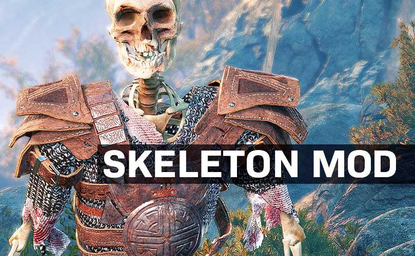 baldur's gate 3 funny mods skeleton