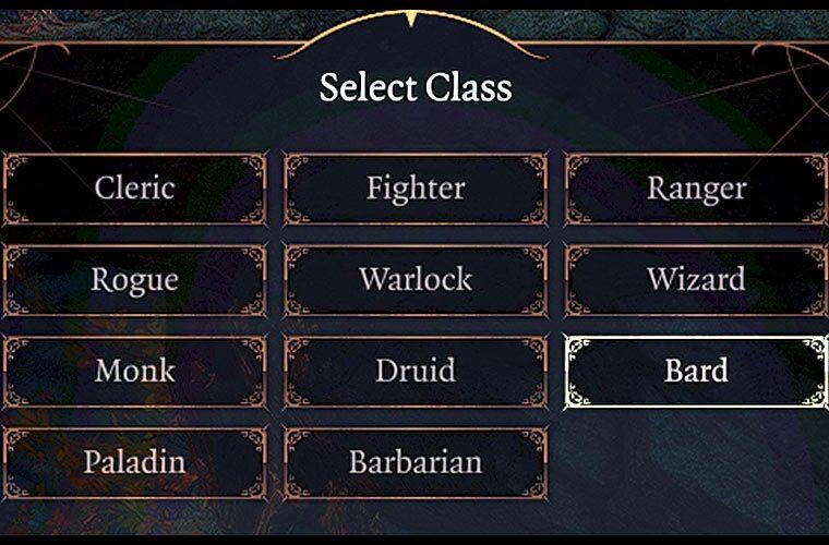 classes baldur's gate 3