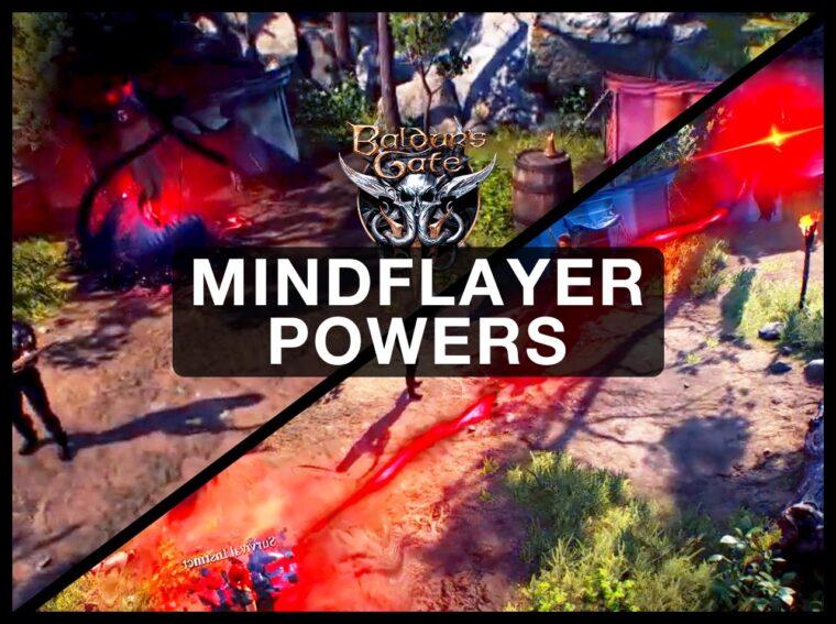 mindflayer powers Baldur's Gate 3